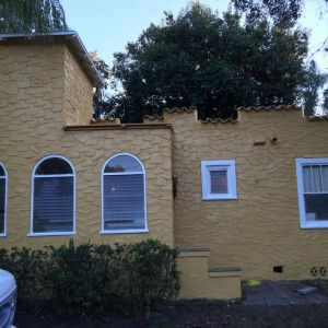 Finished exterior paint on a house in St.Petersburg, FL