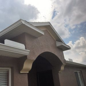 Finished exterior paint on a house in Wesley Chapel, FL